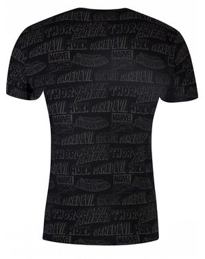 Marvel Comics тениска в черно