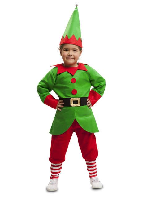 Fato de elfo ajudante infantil