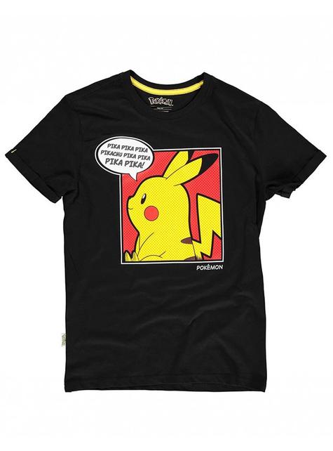 Camiseta de Pikachu negra para mujer - Pokémon