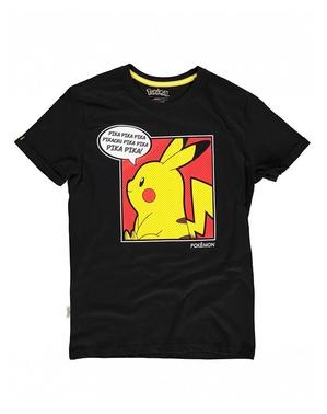 Pikachu T-skjorte til damer i svart - Pokémon