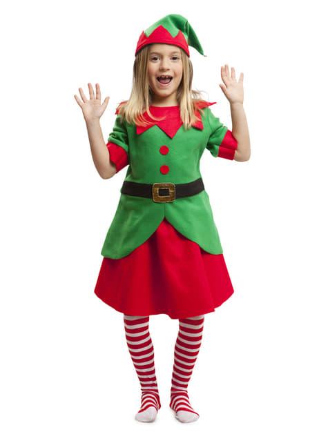 Fato de elfa natalícia para menina