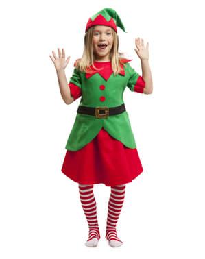 תחפושת שדון חג המולד עבור נערות