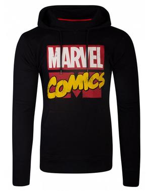 ブラックでマーベルコミックパーカー