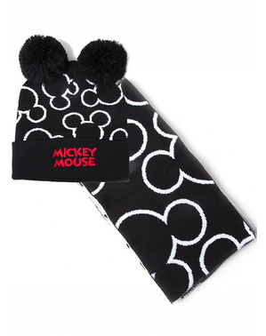 Mickey Mouse Beanie a šál Set