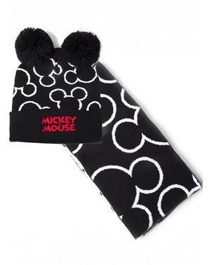 Mickey Mouse Beanie og Tørklæde Sæt