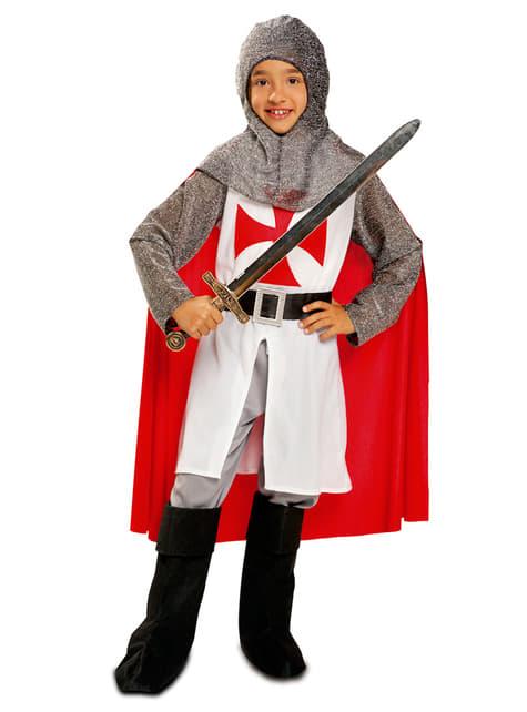 Fato de templário guerreiro para menino