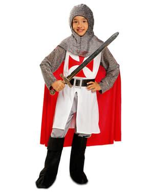 Strój rycerza templariusz dla chłopca
