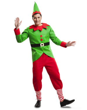 Man's Playful Elf Costume