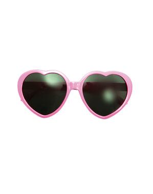 Óculos anos 50 coração para mulher