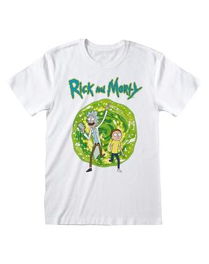 Рик и Морти тениска в бяло