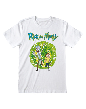 T-shirt Rick & Morty branca
