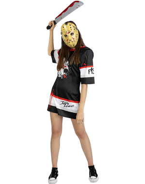 Costume di Jason Venerdi 13 hockey per donna