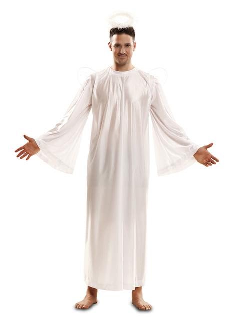 Disfraz de angelito navideño para adulto