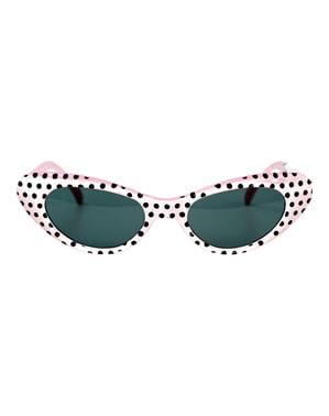 Kacamata Putih Berputar Dewasa tahun 1950-an