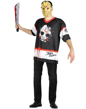 Jason Fredagen den 13e Maskeraddräkt hockey stor storlek