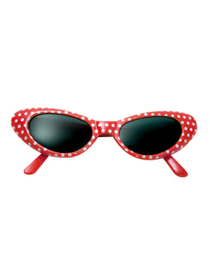 Adult's 1950s Red-Rimmed Sunglasses