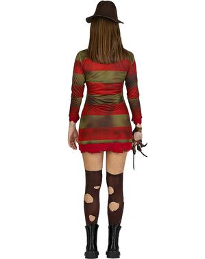 Costume di Freddy Krueger per donna taglia grande - Nightmare