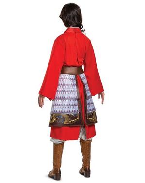 Fato de Mulan vermelho