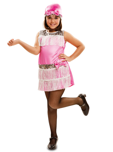 Girl's Pink Charleston Costume