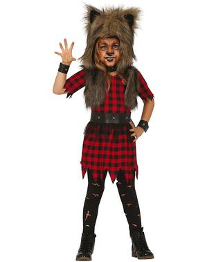 Costume da donna lupo per bambina