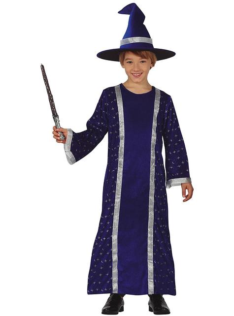 Zauberer Kostüm blau für Jungen