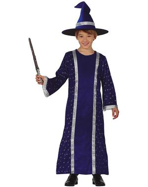 Déguisement magicien bleu garçon