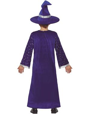 Blauw tovenaarskostuum voor jongens