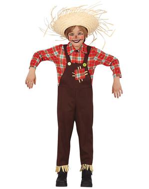 Disfraz de espantapájaros simpático para niño