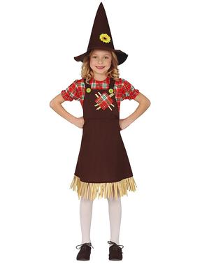 Disfraz de espantapájaros simpático para niña