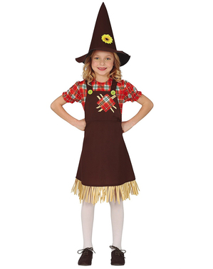 Friendly Scarecrow Costume for Girls