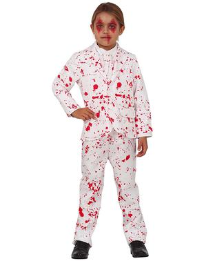 Traje blanco sangriento infantil