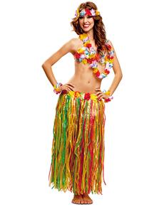 Costume da hawaiana. Gonne e complementi aggiuntivi. Aloha!  54d7eca091de