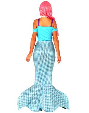 Fato de sereia azul para mulher