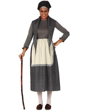 Disfraz de abuela gris para mujer