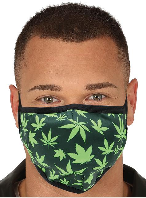 Mascarilla hojas de marihuana para adulto
