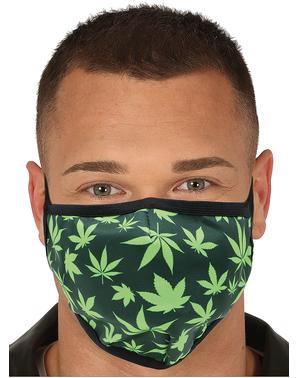 Máscara folhas de marijuana para adulto