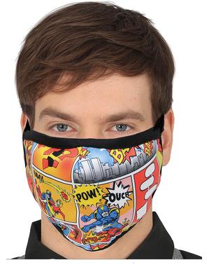 Comic Print Mund-Nasen-Maske für Erwachsene