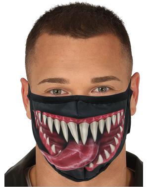 Máscara de homem aranha em preto para adulto