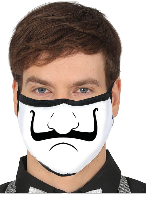 Nose and Moustache Face Mask for Adults