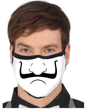 Mascherina con naso con baffi per adulto