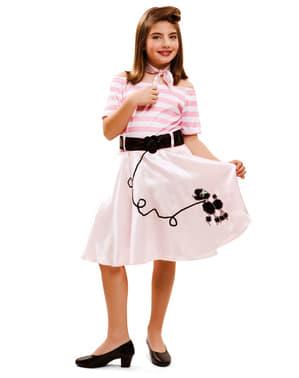 Fato de jovem na moda dos anos 50 para menina