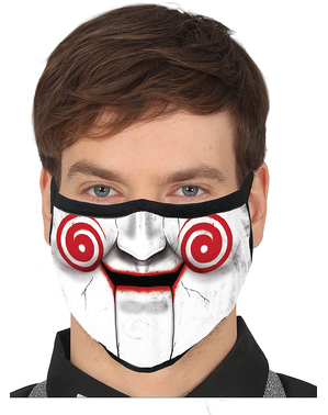 Máscara de marioneta assassina para adulto