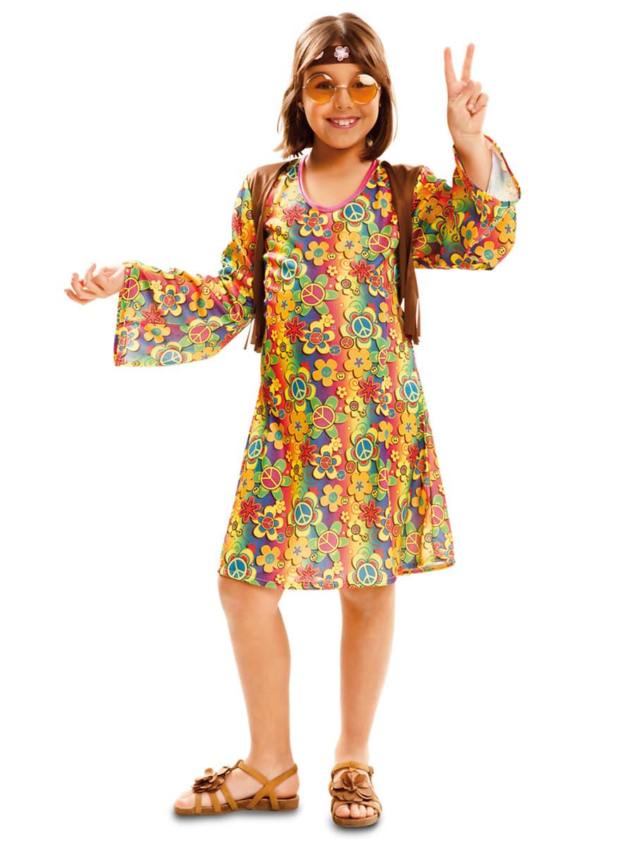 disfraz de hippie pacfica para nia