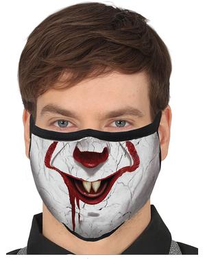 Máscara de palhaço assassino para adulto