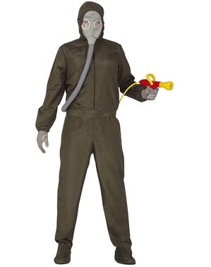 Nucleair Hazmat pak kostuum voor volwassenen
