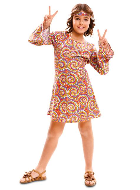 Disfraz de hippie psicodélica para niña