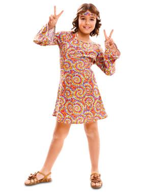 Fato de hippie psicodélica para menina