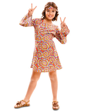 Girl's Psychedelic Hippy Costume