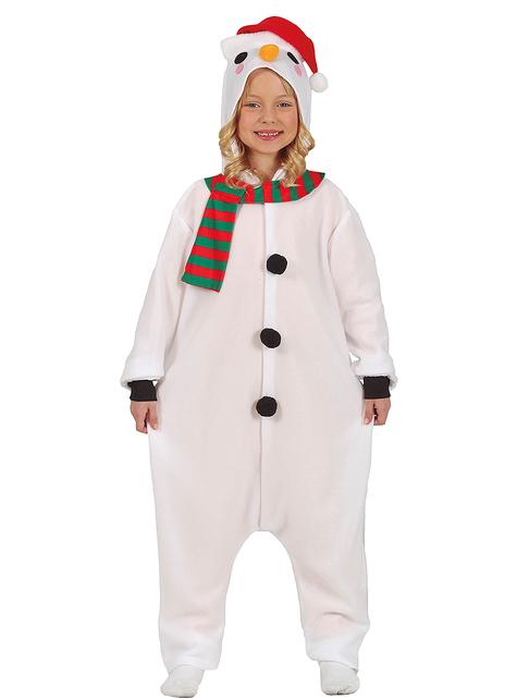 Disfraz de muñeco de nieve onesie infantil