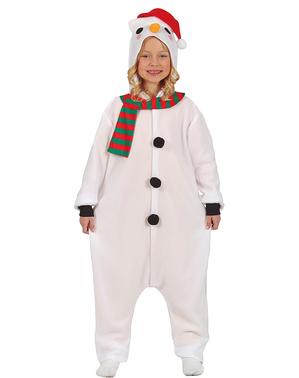 Snømann Onesie Kostyme til Barn